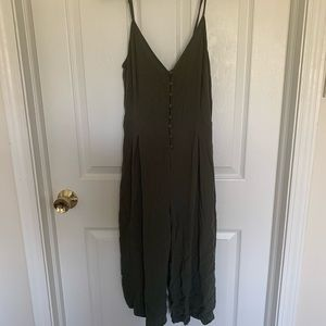 Olive Green Jumpsuit with pockets